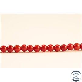 Perles semi précieuses en corail - Rondes/3 mm - Vermeil