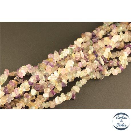 Perles semi précieuses en fluorite - Pépites/4 mm