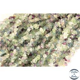 Perles semi précieuses en fluorite - Pépites/5 à 8 mm