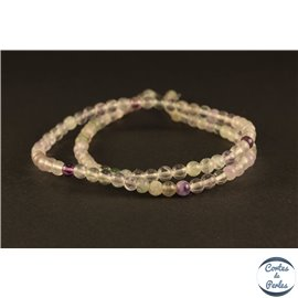 Perles semi précieuses en fluorite - Rondes/4 mm - Grade A