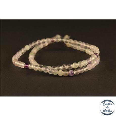 Perles semi précieuses en fluorite - Rondes/4 mm - Light Violet