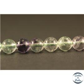 Perles semi précieuses en fluorite - Rondes/6 mm