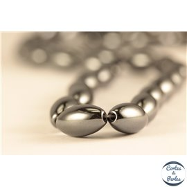 Perles en hématite synthétique - Ovales/6mm