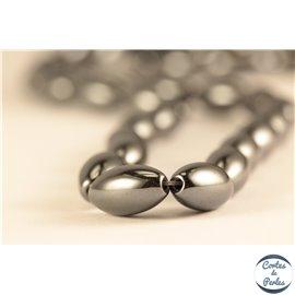 Perles semi précieuses en hématite - Ovales/6 mm