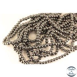 Perles semi précieuses en hématite - Rondes/6 mm - Grade AA