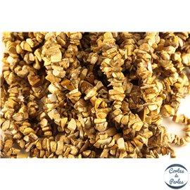 Perles semi précieuses en jaspe - Pépites/5 à 8 mm - Desert rock