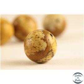 Perles semi précieuses en jaspe - Rondes/12 mm - Beige