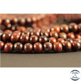 Perles semi précieuses en jaspe rouge - Rondes/4 mm