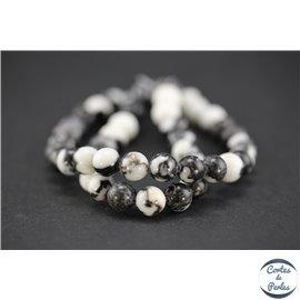 Perles semi précieuses en jaspe zébré - Rondes/8 mm