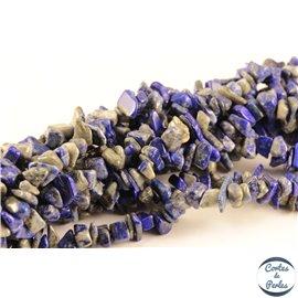Perles semi précieuses en lapis lazuli - Pépites/4 mm