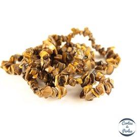 Perles semi précieuses en œil de tigre - Pépites/4 mm