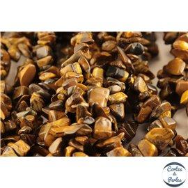 Perles semi précieuses en oeil de tigre - Pépites/5 mm