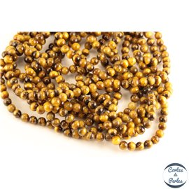 Perles semi précieuses en œil de tigre - Rondes/6 mm