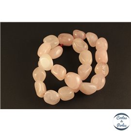 Perles en quartz rose - Nuggets/16mm
