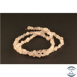 Perles en quartz rose - Nuggets/3mm