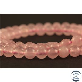 Perles en quartz rose - Rondes/4mm