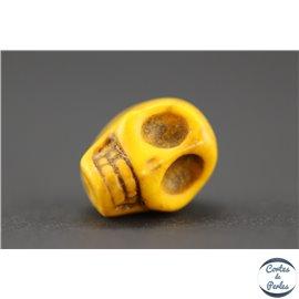 Perles semi précieuses en howlite - Skulls/12 mm - Camel
