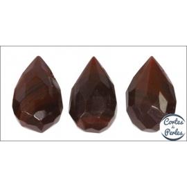 Perles facettées en verre - Gouttes/9 mm - Rubis