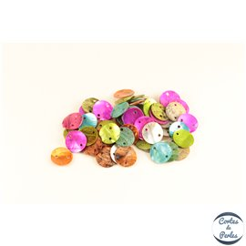 Perles en Nacre - Disques/13 mm - Multicolore
