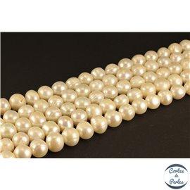 Perles de culture - Rondes/10mm - Blanc