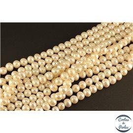 Perles de culture - Rondes/8mm - Blanc