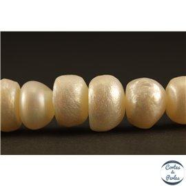 Perles de culture - Roues/10mm - Blanc