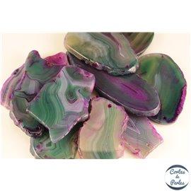 Pendentifs en Agate - Chips/55 mm - Vert Violet