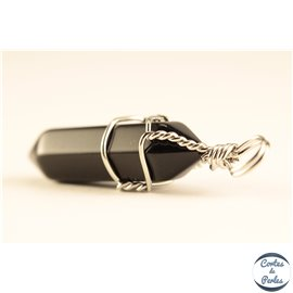 Lot de 2 pendentifs en black agate - Pics/38 mm