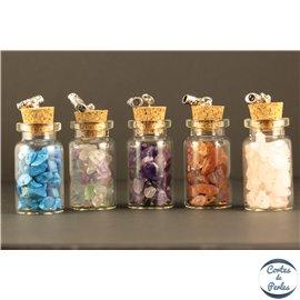Lot de 5 pendentifs en pierres semi précieuses - Bouteilles/44 mm