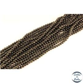 Perles semi précieuses en obsidienne - Rondes/4 mm