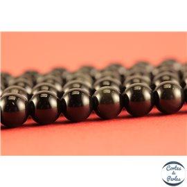 Perles semi précieuses en obsidienne - Rondes/6 mm - Grade A
