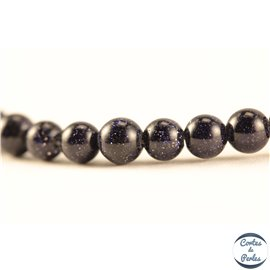 Perles en goldsand stone midnight - Rondes/4mm