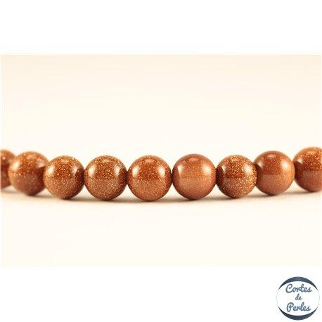 Perles semi précieuses en sable d'or - Rondes/6 mm