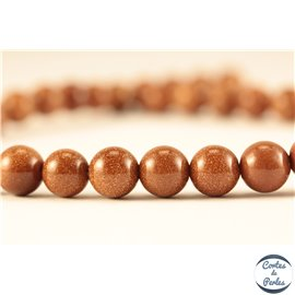 Perles en goldsand stone orange - Rondes/8mm
