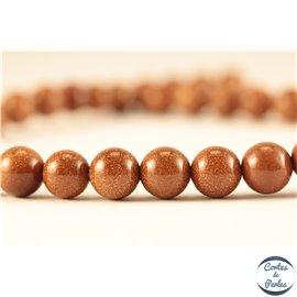 Perles semi précieuses en sable d'or - Rondes/8 mm