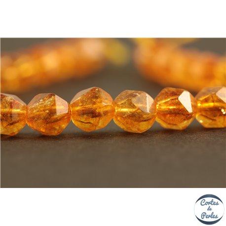 Perles semi précieuses en cristal crack - Pépites/6 mm - Gold