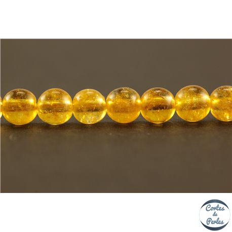 Perles semi précieuses en cristal crack - Rondes/4 mm - Miel