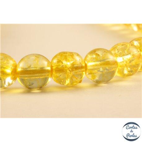 Perles semi précieuses en cristal crack - Rondes/6 mm