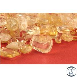 Perles semi précieuses en quartz ananas - Pépites/10 mm