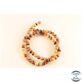 Perles semi précieuses en malachite - Rondes/6 mm - Orange