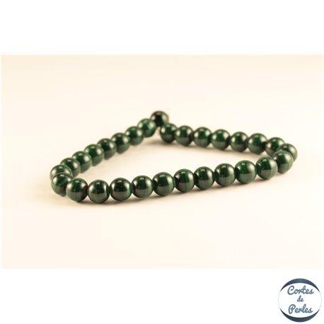 Perles semi précieuses en malachite - Rondes/7 mm
