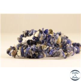 Perles semi précieuses en sodalite - Pépites/3 à 5 mm - Bleu métal