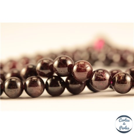 Perles semi précieuses en grenat - Rondes/6 mm