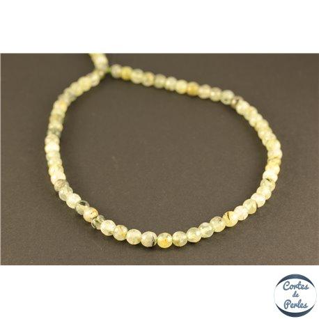 Perles semi précieuses en préhnite - Rondes/6 mm
