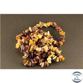 Perles semi précieuses en mookaite - Pépites/5 mm