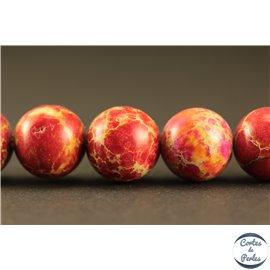 Perles semi précieuses en jaspe - Rondes/10 mm - Rouge