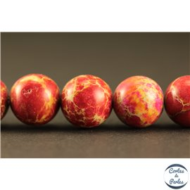 Perles semi précieuses en régalite - Rondes/10 mm - Rouge