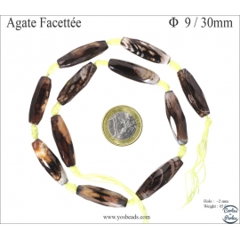 Perles en agate Colorado - Tubes/9mm