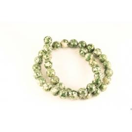 Perles semi précieuses en Agate - Rondes/10 mm - Vert
