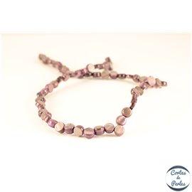 Perles en nacre - Disques/7 mm - Mauve